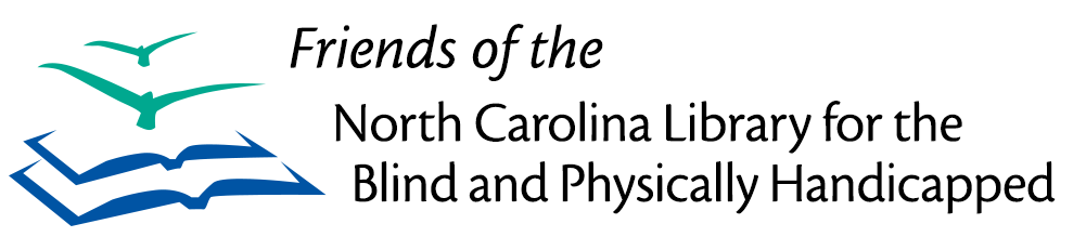Logo for Friends of the  North Carolina Library for the Blind and Physically Handicapped